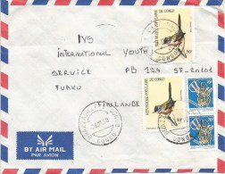 Congo 1990 Brazzaville-Bacongo Pitchou Bird Anti-apartheid Struggle Financial Fund Cover - Congo - Brazzaville