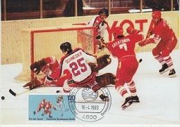 Berlin 1983 Icehockey USA-URSS 1v Maximum Card (18235) - [5] Berlijn