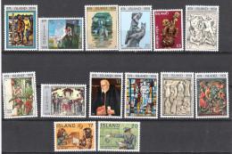 ISLANDE:lot De 14 TP: Anniversaire Du Peuplement:tableaux,oeuvres D'art,EUROPA,centenaire De L'UPU - Islande
