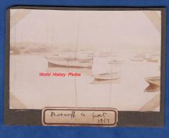Photo ancienne - ROSCOFF ( Finist�re ) - Bateau au port - voir immatriculation - 1929