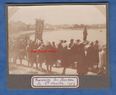 2 Photos anciennes - ROSCOFF ( Finist�re ) - Procession du Pardon de Sainte Barbe - 1929 - Folklore Breton Bretagne