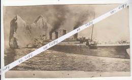 HSM TITANIC - clich� de presse - collision du navire avec un iceberg. d'apr�s dessin