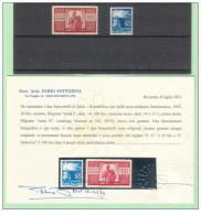 Italia 1945 - Il 30 E 100 Lire (14 X 13 1/2) ** Con Perizia F. Sottoriva - 6. 1946-.. Repubblica