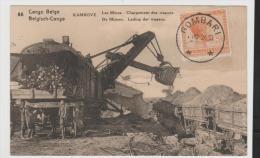 BG046/ Bilfganzsache Kambove,  Gombari Nach Italien 1924 Bergbau  (mining, Les Mines) - Ganzsachen