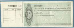 1880 BANCA POPOLARE FORLIVESE SEDE IN FORLI  - ASSEGNO CON MATRICE - Wissels