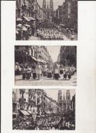 LOT DE 3 CPA - FETE DE JEANNE D'ARC 1909 -  PROCESSION TRADITIONNELLE - Orleans