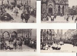 LOT DE 4 CPA - FETE DE JEANNE D'ARC 1912 - 500 ème ANNIVERSAIRE - Orleans
