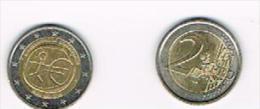 GERMANIA (GERMANY) - 2 EURO COMMEMORATIVI  2009:  10^ ANNIV. EMU 1999.2009 (ZECCA A) - CIRCOLATA - Germania