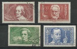 1936 - YVERT N° 330/333 OBLITERATION LEGERE - COTE = 33 EUR. - France