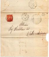 1884  LETTERA CON ANNULLO SORIANO NEL CIMINO VITERBO - 1878-00 Umberto I