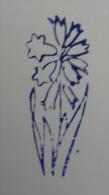 Ancien Tampon Scolaire Bois Fleur JACINTHE Ecole French Antique Rubber Flower HYACINTH - Scrapbooking