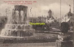 CPA  EXPOSITION UNIVERSELLE DE BRUXELLES 1910 LA CASCADE DU JARDIN HOLLANDAIS - Expositions