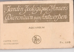 24215 Carnet Jardin Zoologique Anvers -dierentuin Van Antwerpen -NELS Aquarium 2fr- 10 Cpa Exterieur Entrée Vestibule - Belgique