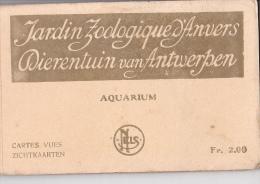 24215 Carnet Jardin Zoologique Anvers -dierentuin Van Antwerpen -NELS Aquarium 2fr- 10 Cpa Exterieur Entrée Vestibule