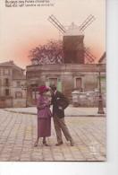 24216 Lot 5 Cpa Serie Couple Amoureux Montmartre Moulin  -A Noyer Paris 2812 Colorisé Amour Folie - Couples