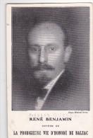 24218 Carte Publicitaire Librairie Plon - René Benjamin- Auteur Vie Prodigieuse Balzac -Fernad Quesnel - Ecrivains