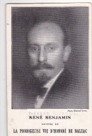 24218 Carte Publicitaire Librairie Plon - René Benjamin- Auteur Vie Prodigieuse Balzac -Fernad Quesnel