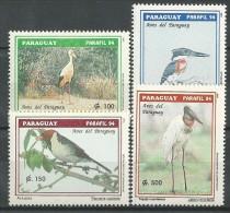Paraguay: Maguari Stork / Yellow-billed Cardinal / Green Kingfisher / Jabiru - Collections, Lots & Séries