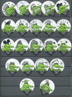 81 - Manora Crocodile - Serie complete de 21 opercules Suisse
