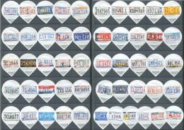 87 - Plaques immatriculation USA - Serie complete de 51 opercules Suisse Floralp
