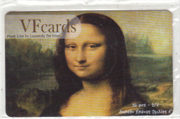 GREECE - Mona Lisa, Painting/Leonardo Da Vinci, VF Promotion Prepaid Card, Tirage 50, Mint - Pintura