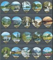 614 A - Zones protegees - Serie complete de 20 opercules Suisse