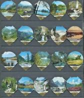 614 B - Zones protegees - Serie complete de 20 opercules Suisse