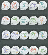 619 A - Langage des signes - Serie complete de 20 opercules Suisse