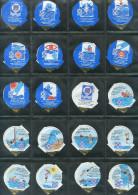 639 B - Natation de sauvetage - Serie complete de 20 opercules Suisse