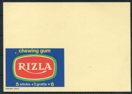 1970s Belgium Advertising Stationery Postcard Essay - RIZLA Chewing Gum Publibel 2557 F - Stamped Stationery