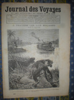 LE JOURNAL DES VOYAGES 02/10/1892 Iles MALAISES PALEMBANG SINGAPOUR SUMATRA ITALIE ERUPTION ETNA GIBBON - Books, Magazines, Comics