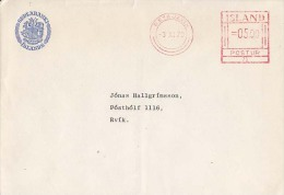 Island Airmail Cover, Meter Stamps   (Z-7242) - 1944-... Republic