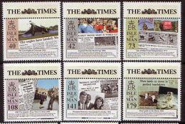 ISLE OF MAN 2013 NEWSPAPERS, THE TIMES SET OF 8 UM, MNH, CONCORDE - Isla De Man