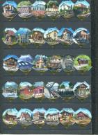 1147 D - Gares (Chemin de fer) - Serie complete de 30 opercules Suisse SANS Emmi
