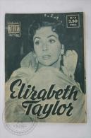 Old 1950´s Small Magazine Cinema/ Movie Actors - 28 Pages, 12 X 16 Cm - Actress: Elizabeth Taylor - Revistas