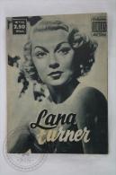 Old 1950´s Small Magazine Cinema/ Movie Actors - 28 Pages, 12 X 16 Cm - Actress: Lana Turner - Revistas