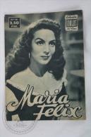 Old 1950´s Small Magazine Cinema/ Movie Actors - 28 Pages, 12 X 16 Cm - Actress: María Félix - Revistas