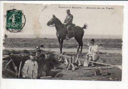 Militaria / /Infanterie En Manoeuvres / Marqueurs Dans Une Tranchée  (voir état) - Manoeuvres