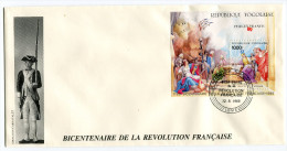TOGO  BF 277 THEME REVOLUTION FRANCAISE 1 ENVELOPPE OBLITERATION LOME 12-6-1989 - Franz. Revolution