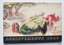 MOTO / AUTO / Castrol Oils / ACHIEVEMENTS 1949 - Illustrations GORDON HORNER / San Remo, Blue Riband, Miglia, Etc - Motos