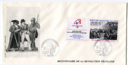 FRANCE THEME REVOLUTION FRANCAISE ENVELOPPE OBLITERATION LYON 23 MARS 1989 LA MUSIQUE ET LA REVOLUTION - Franz. Revolution