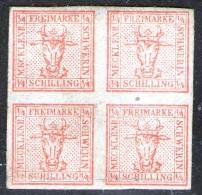 4/4 Shilling rot - Meckl. Schwerin Nr. 1 ungebraucht