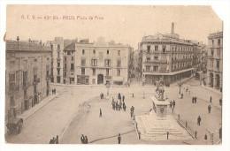 Espagne - Espana - Reus . Piaza De Prim En 1910 , Ed Angel Toldra Viazo Barcelona - Barcelona