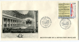 FRANCE THEME REVOLUTION FRANCAISE ENVELOPPE OBLITERATION CHAVANIAC 11-11-1989 RASSEMBLEMENT DU BICENTENAIRE - Franz. Revolution