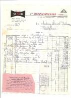 YVETOT ETS SEGAIN CARPENTIER 17 RUE DES CHOUQETTES  1963 - Vestiario & Tessile
