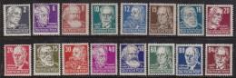 Germany Dem.Rep. set of 16 Famous German and Russian Men  10N27