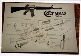 Militaria / Photo Du Fusil D'assault :  Colt M16a2 ,5,56 M/m / Attention Photo Format Carte Postale - Matériel
