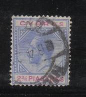 W2153 - CIPRO 1921 , Il N. 76 Usato. Fil CA Corsivo - Cipro (...-1960)