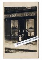 LE TREPORT      carte photo   MAGASIN C MARIETTE  recto verso