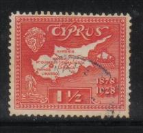 W2291 - CIPRO 1928 , Il N. 108 Usato . 50mo Occupazione Inglese - Cipro (...-1960)